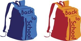 задняя школа backpack к Стоковое Изображение