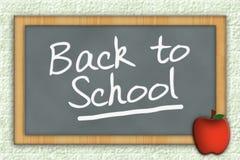 задняя школа chalkboard к Стоковое Фото