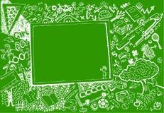 задняя школа doodle к Стоковая Фотография