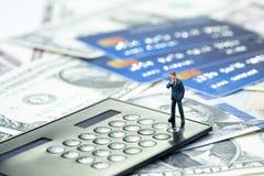Задолженность кредитной карточки, финансовая проблема или концепция платежа по кредиту, минута стоковые изображения rf