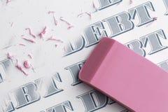 Задолженность Erase Стоковые Фото
