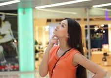Задумчивая красивая девушка азиатского возникновения Стоковые Фото