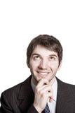 задумчивые принципиальной схемы бизнесмена творческие думают Стоковые Фотографии RF