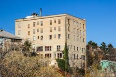 Зад 6 зданий городка минирования рассказа Стоковые Фото