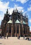 Зад собора St Vitus стоковая фотография