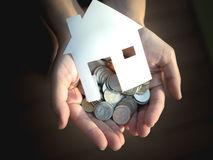 Заем для покупая дома, ипотеки и концепции вклада Стоковое фото RF