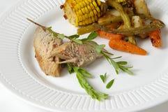 зажаренная в духовке печь обеда стоковое изображение rf