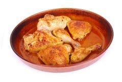 зажаренная в духовке португалка цыпленка стоковые фото