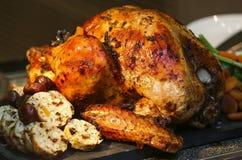 Зажаренная в духовке Турция для благодарения и рождества Стоковое Изображение RF
