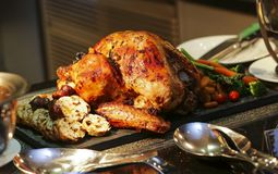 Зажаренная в духовке Турция для благодарения и рождества Стоковые Фотографии RF