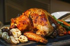 Зажаренная в духовке Турция для благодарения и рождества Стоковое Изображение
