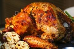 Зажаренная в духовке Турция для благодарения и рождества Стоковая Фотография