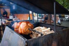 Зажаренная в духовке нога свинины Стоковое фото RF