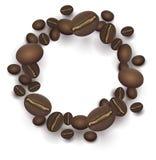 Зажаренная в духовке рамка кофейных зерен круглая бесплатная иллюстрация