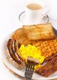 зажаренная еда завтрака Стоковое Фото