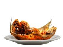 Зажаренная еда рыб здоровая Стоковая Фотография