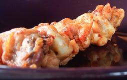 зажаренная еда цыпленка Стоковое Фото