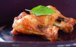 зажаренная еда цыпленка Стоковая Фотография RF
