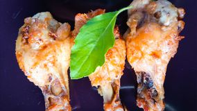 зажаренная еда цыпленка Стоковые Изображения