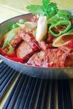 зажаренная еда curd фарфора chili фасоли вкусная Стоковое Фото