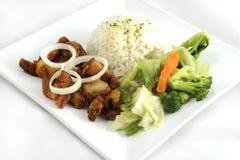 Зажаренная еда свинины Стоковые Изображения RF