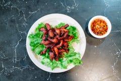 Зажаренная закуска свинины известная в Таиланде Стоковое Фото