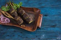 Зажаренная картошка на плите Стоковая Фотография RF