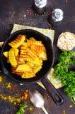 зажаренная картошка стоковые изображения rf