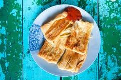 Зажаренная кожа тофу, лист творога фасоли, кухня тайванца местная стоковая фотография rf