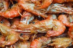Зажаренная креветка, тайская еда Стоковые Фото
