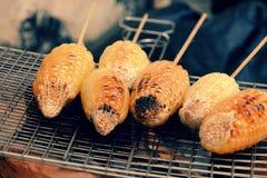 Зажаренная мозоль, горячий стержень кукурузного початка Стоковые Фотографии RF