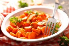 Зажаренная морковь с петрушкой Стоковое Изображение