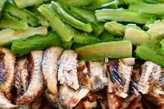 Зажаренная скумбрия еда тайская Стоковые Изображения RF