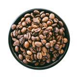 Зажаренное в духовке кофейное зерно изолированное на белой предпосылке Стоковые Фотографии RF