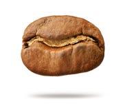 Зажаренное в духовке кофейное зерно изолированное на белой предпосылке Архив содержит путь к изоляции Стоковая Фотография