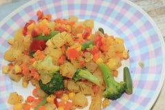 Зажаренное в духовке vegetable смешивание Стоковое Фото