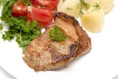 зажаренное в духовке мясо Стоковое Изображение