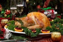 Зажаренное в духовке рождество Турция Стоковое фото RF