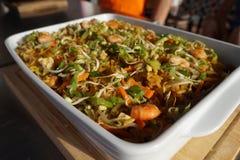 Зажаренное китайское блюдо риса стоковое изображение rf