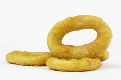 Зажаренное кольцо кальмара Стоковые Фото