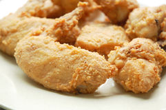 зажаренное кудрявое цыпленка Стоковое Изображение