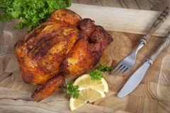 зажаренное кудрявое цыпленка стоковое фото