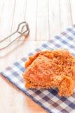 зажаренное кудрявое цыпленка Стоковые Изображения RF
