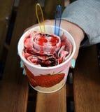 Зажаренное мороженое Rolls Стоковые Фотографии RF