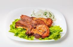 Зажаренное мясо на косточке Стоковые Фото