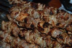 Зажаренное мясо на огне Стоковое Изображение