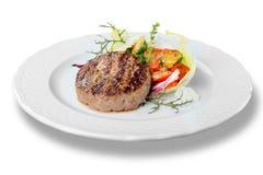 Зажаренное мясо стейка говядины с зажаренной картошкой Стоковые Фотографии RF