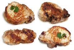 Зажаренное мясо с cilantro Стоковое Изображение RF