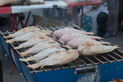 Зажаренное углем барбекю рыб Стоковая Фотография RF