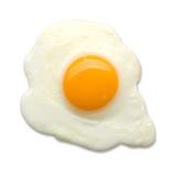 зажаренное яичко изолированным Стоковые Изображения RF